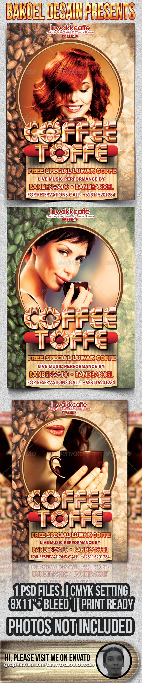 GraphicRiver Coffe Toffe Party Flyer 3311325