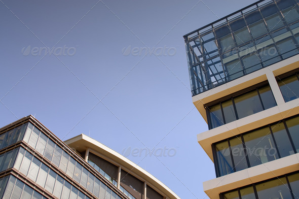 Office Buildings with Copy Space - Stock Photo - Images