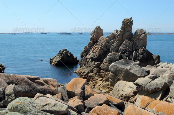 St. Agnes and Western Rocks, Isles of Scilly, Cornwall UK. - Stock Photo - Images