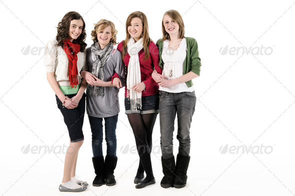 Teenage girls - Stock Photo - Images