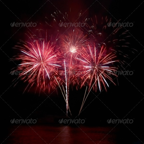 Colorful fireworks - Stock Photo - Images