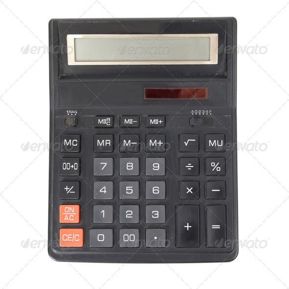 Black calculator - Stock Photo - Images
