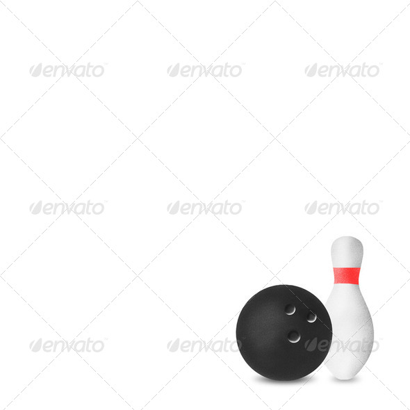 Bowling sport craft white isolate - Stock Photo - Images