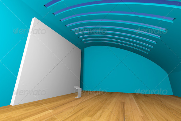 blue gallery - Stock Photo - Images