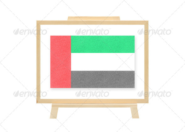 Football nations flag united arab emirates cork board (clipping path) - Stock Photo - Images