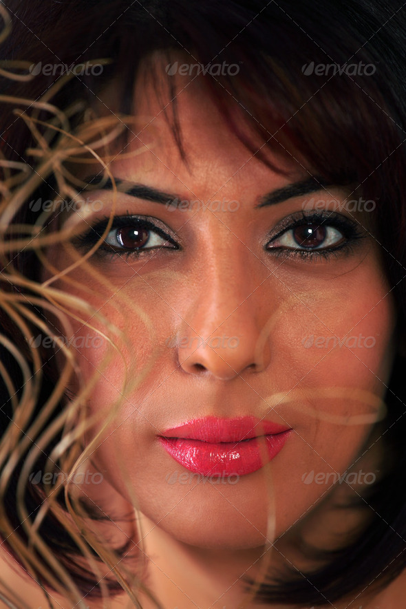 Woman face sensual - Stock Photo - Images