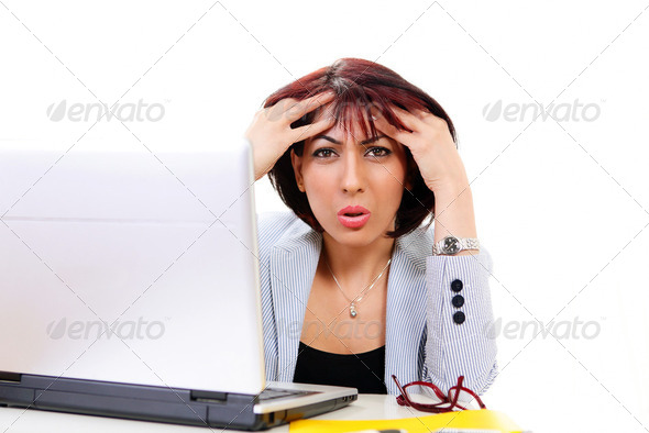 Confused office worker - Stock Photo - Images