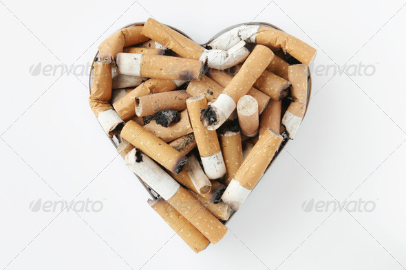cigarette stubs - Stock Photo - Images