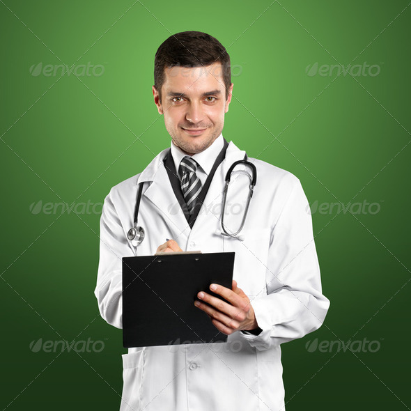 Doctor Man With Stethoscope - Stock Photo - Images