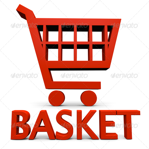 Red basket sign - Stock Photo - Images