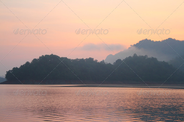 lake landscape - Stock Photo - Images