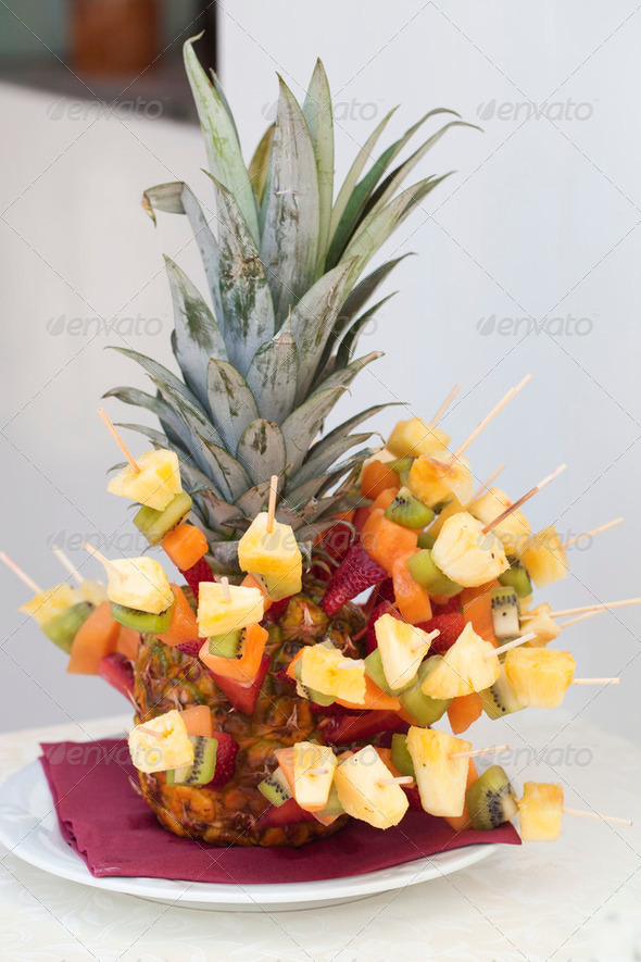 Catering buffet style - pineapple - Stock Photo - Images