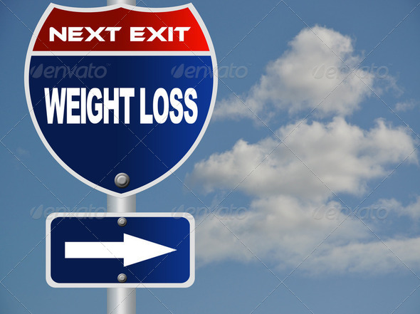PhotoDune Weight loss road sign 2358628