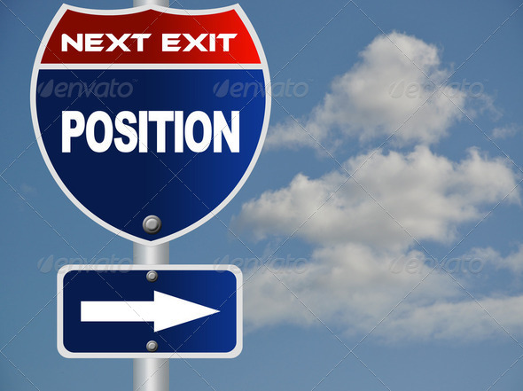 Position road sign - Stock Photo - Images