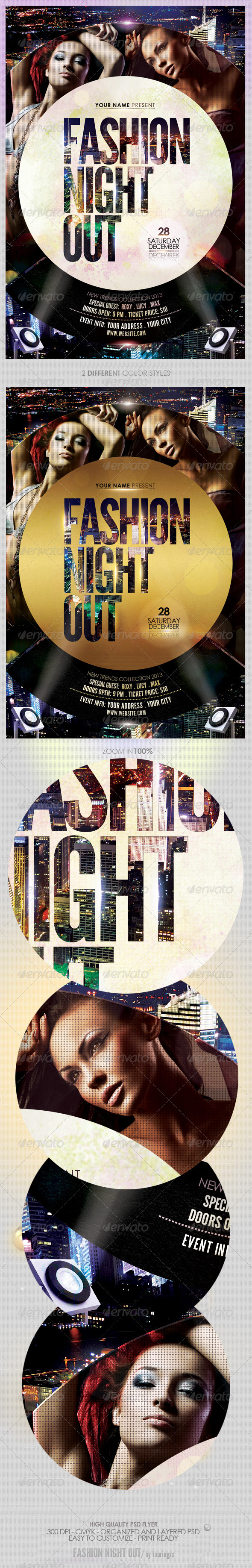 Fashion Night Out Flyer Template - Clubs & Parties Events