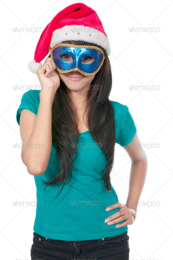 Christmas Mask - Stock Photo - Images