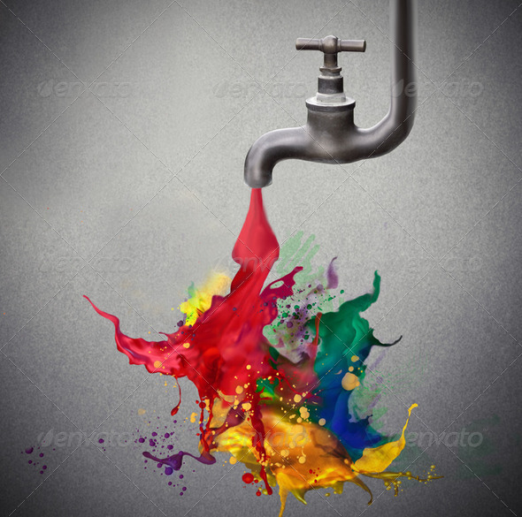 Flowing creativity - Stock Photo - Images
