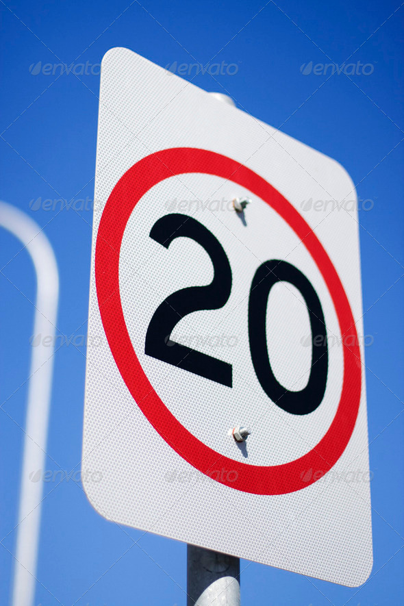 20Km Road Sign - Stock Photo - Images