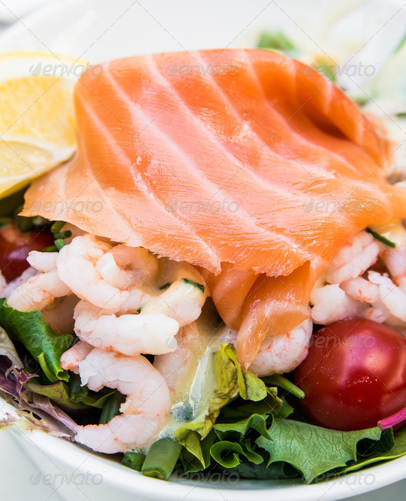Fresh seafood salad - Stock Photo - Images