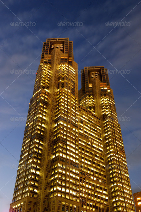 Tokyo City Hall - Stock Photo - Images