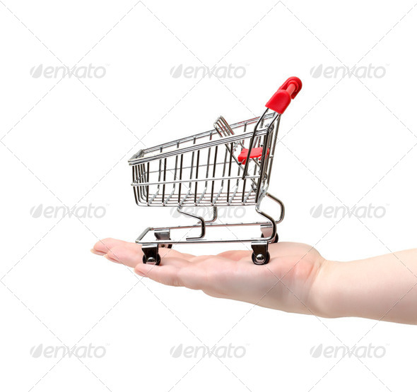 Shopping Cart on Hand - Stock Photo - Images