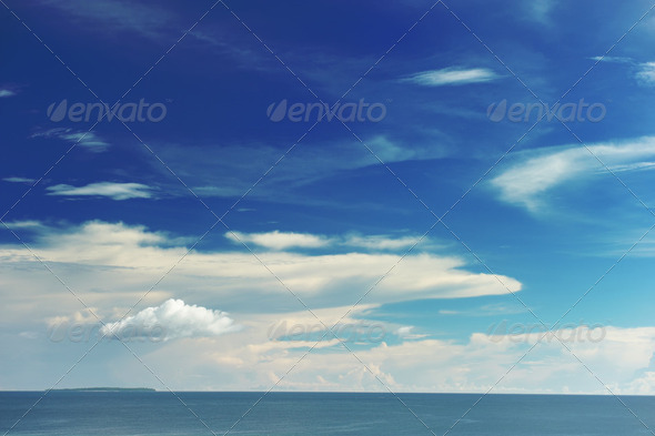 Sky above sea - Stock Photo - Images