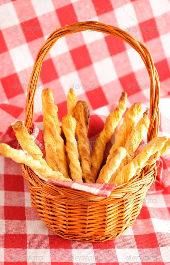 Cheese twists pastry - Stock Photo - Images