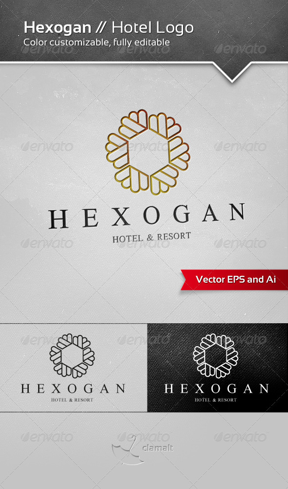GraphicRiver Hexogan Hotel Logo 3351743