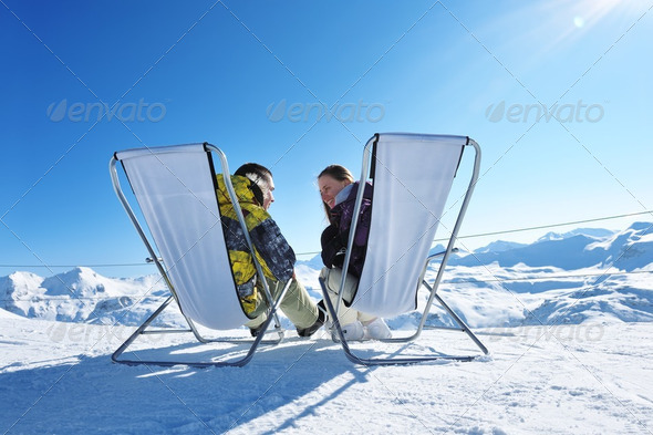 Apres ski at mountains - Stock Photo - Images