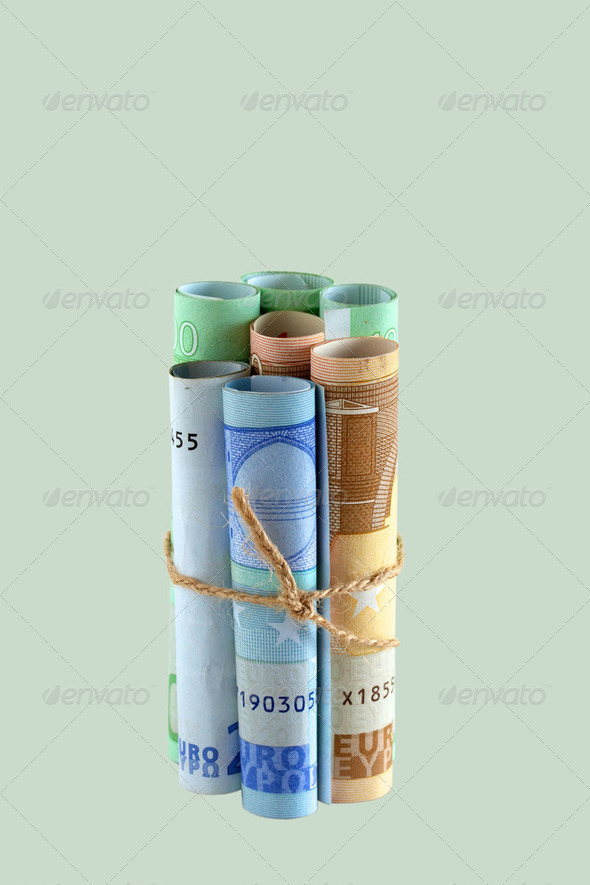 Euro zone crisis - Stock Photo - Images