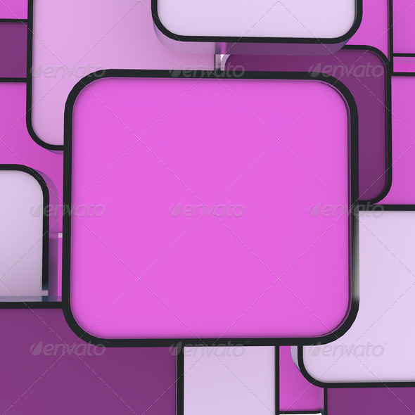 blank abstract pink box - Stock Photo - Images