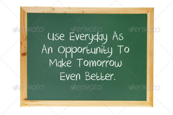 Blackboard with Inspiration - Stock Photo - Images