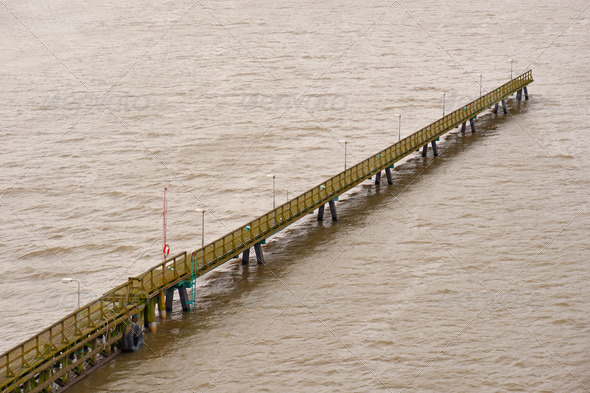 Long pier - Stock Photo - Images
