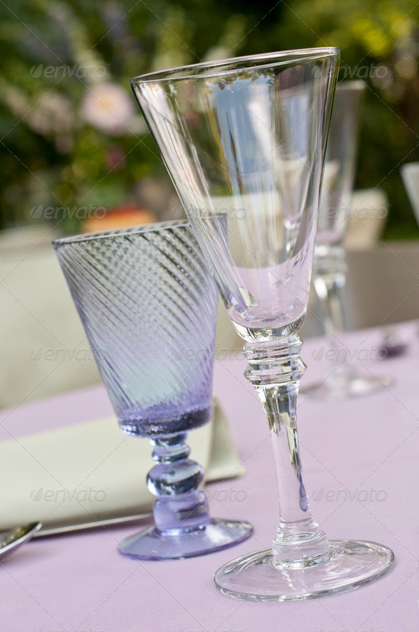 Glassware closeup - Stock Photo - Images