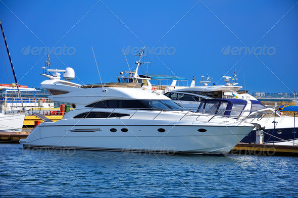 motor yacht - Stock Photo - Images