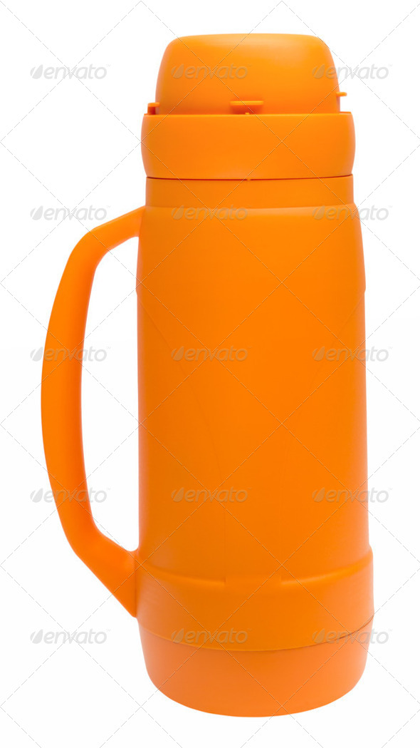 Thermos Flask with path - Stock Photo - Images