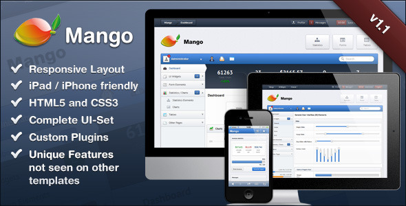 ThemeForest Mango Slick & Responsive Admin Template 2728748