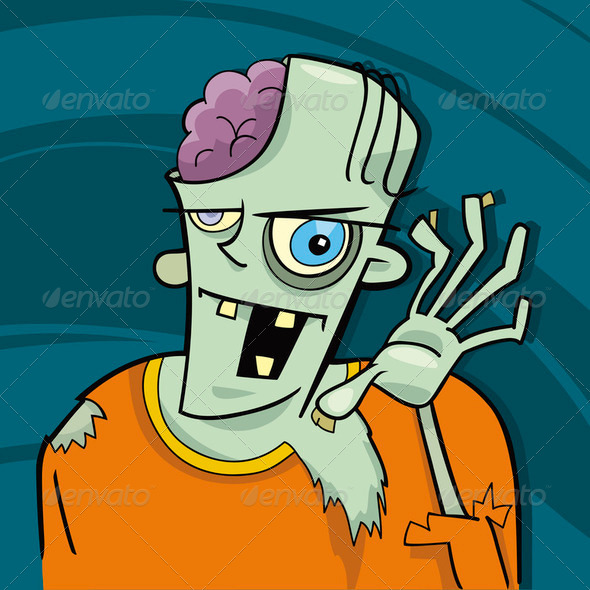 cartoon zombie - Stock Photo - Images