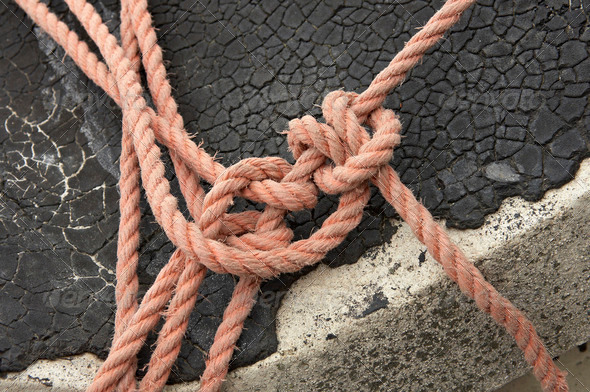 knot on a roof - Stock Photo - Images