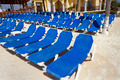 Rows of Blue Chairs - PhotoDune Item for Sale