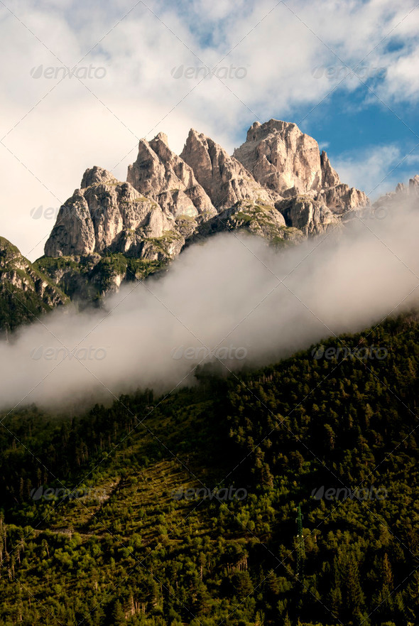 Dolomites Landscape, Italy - Stock Photo - Images