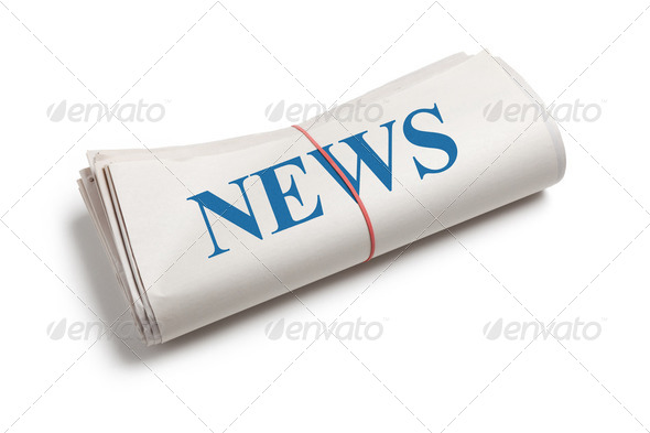 Newspaper roll - Stock Photo - Images