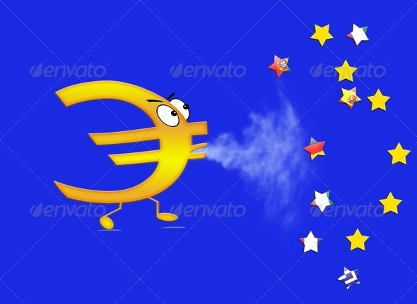 End of euro. - Stock Photo - Images
