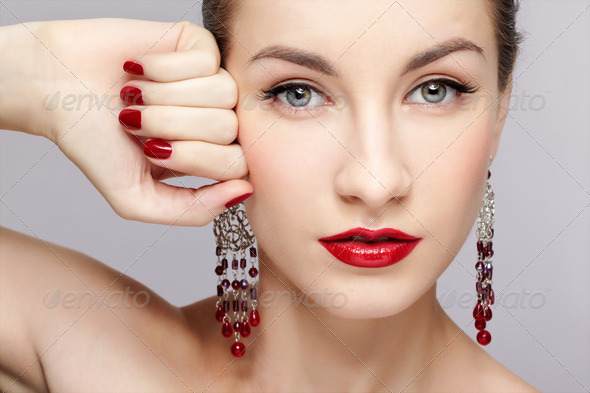 beautiful woman's manicure - Stock Photo - Images