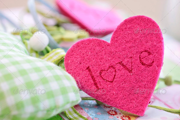 Colorful hearts for decoration - Stock Photo - Images