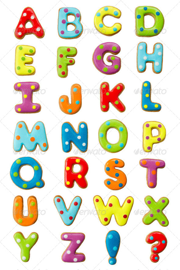Cookie alphabet - Stock Photo - Images