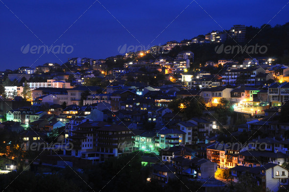 Veliko Tarnovo at Night - Stock Photo - Images