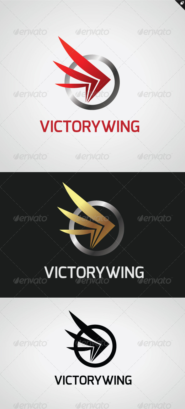 GraphicRiver Victory Wing Logo 3352722