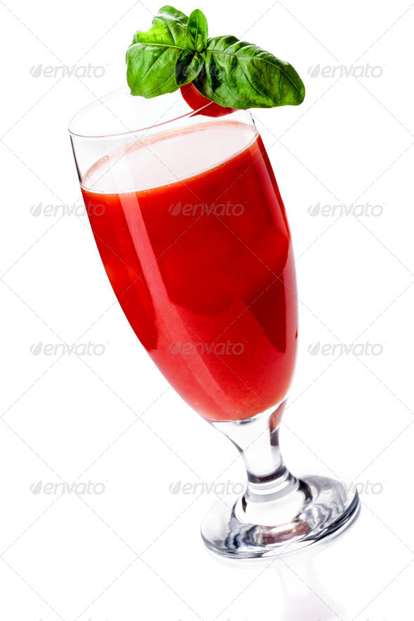 Bloody Mary Cocktail on white background - Stock Photo - Images