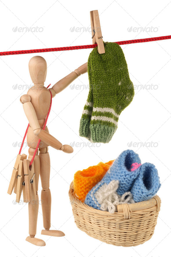 Baby knitwear - Stock Photo - Images